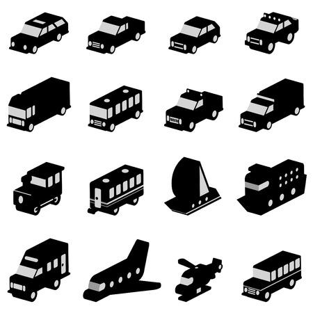 transportation set Stock Vector - 8764966