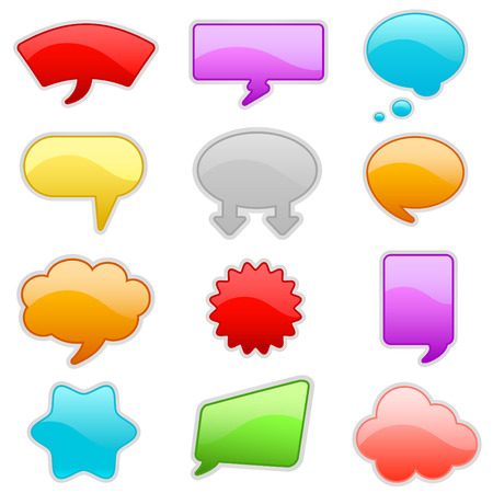 colorful talk bubbles Vector