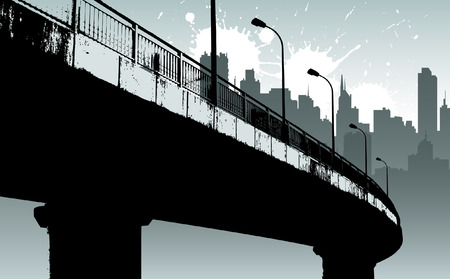 view wallpaper: modern city  Illustration