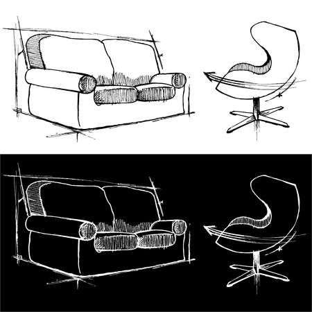 Modern Furniture Drawings 72,936 modern furniture stock vector illustration and royalty free