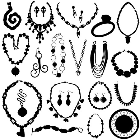 jewelry set  Vector