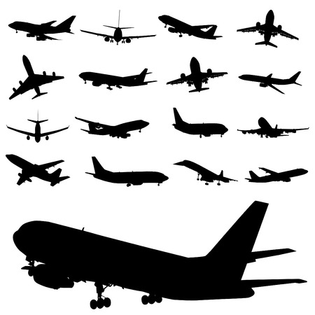 commercial airplane: airplane  Illustration