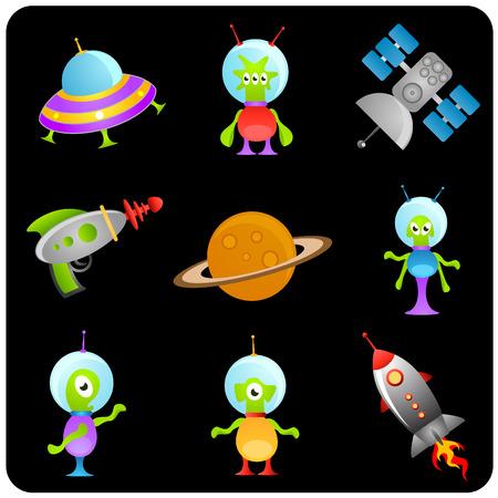 space elements set Stock Vector - 8764904