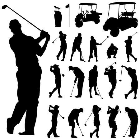 columpio: conjunto de golf  Vectores