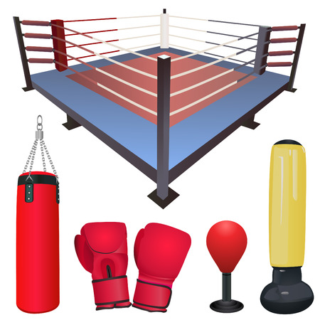 boxing: fighting accessories set