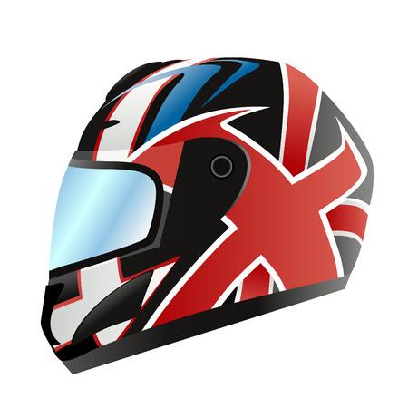 motorcycle helmet  Stock Vector - 8764914