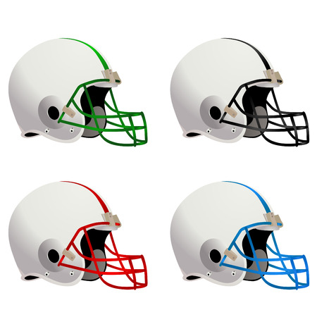 football helmet: american football helmet Illustration