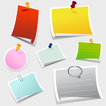 tachuelas: vector de papel de nota