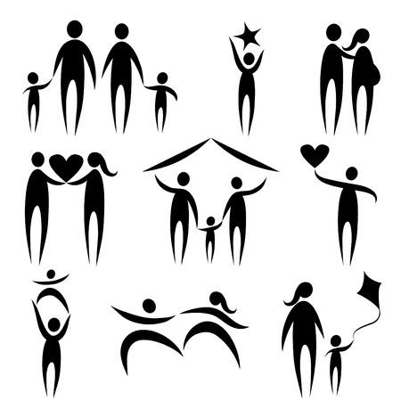 family symbols  Stock Vector - 8883022