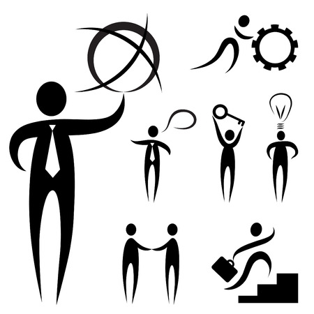 business people symbol Stock Vector - 8883021