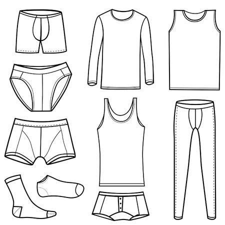 man's underwear set  Stock Vector - 8883012