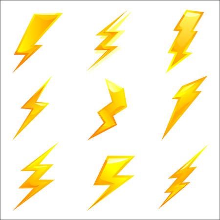 pernos: potentes rayos. conjunto de vectores