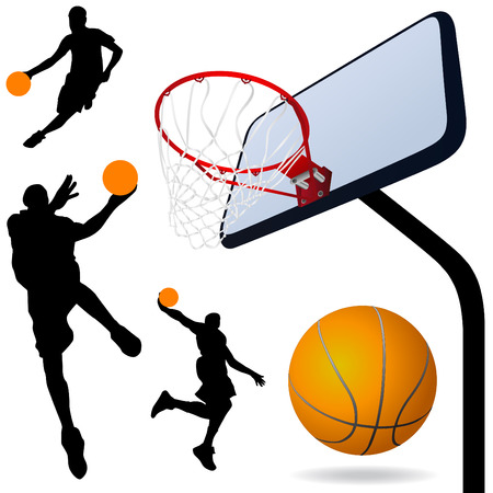basketball shot: basketball vector
