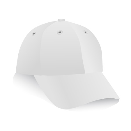 sport wear: white cap vector