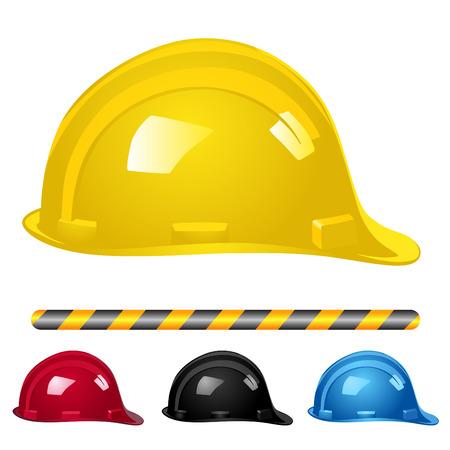 casco rojo: vector de casco