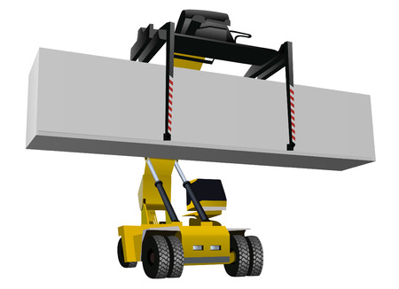 lift trucks: forklift vector illustration