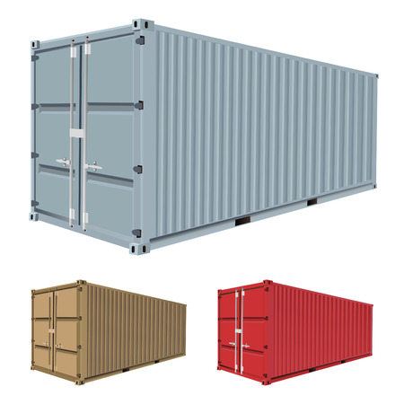 container port: freight container vector  Illustration