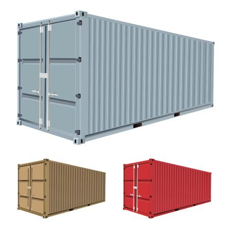 freight container: vector de contenedor de carga  Vectores