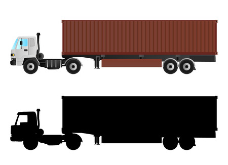 shipping container: truck vector