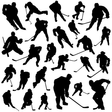 hockey goalie: ice hockey set  Illustration