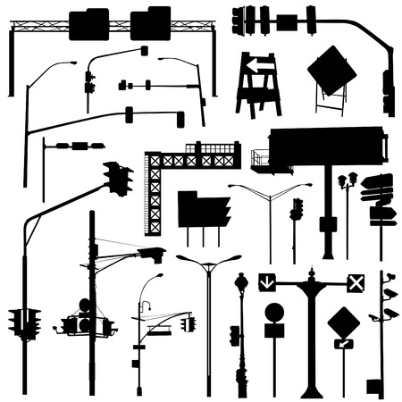 city objects vector set