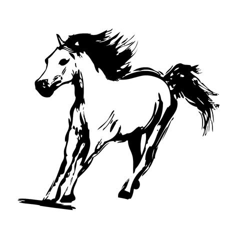style artistic: horse design vector  Illustration