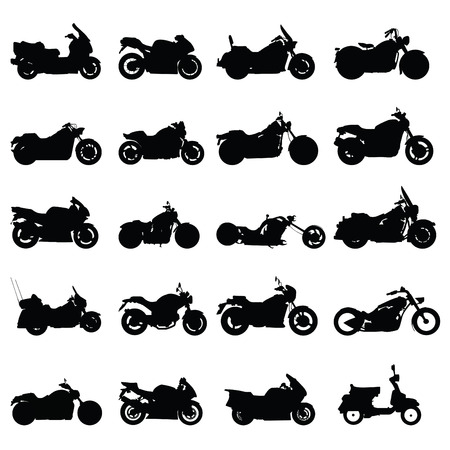 motorbikes: motorcycle set vector  Illustration