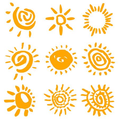 sun symbols vector  Stock Vector - 8883062