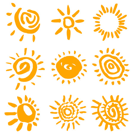 sun vector: sun symbols vector