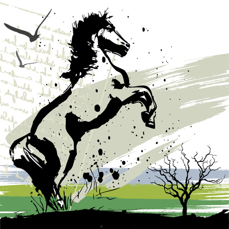 beast ranch: horse design vector  Illustration