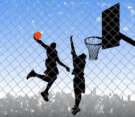 basket: basket in strada  Vettoriali
