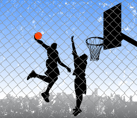 basketball team: basketball in the street  Illustration