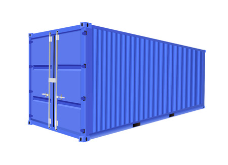 commercial docks: freight container  Illustration