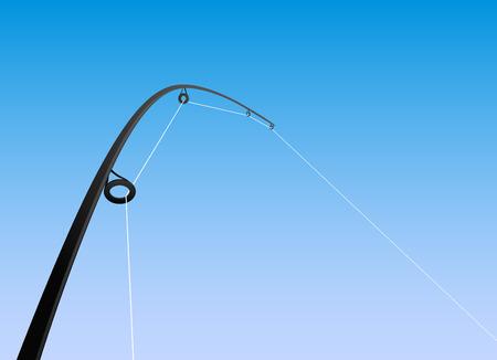 resting rod fishing: fishing rod vector
