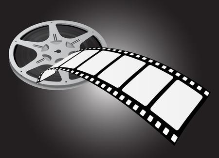 movie reel vector Vector