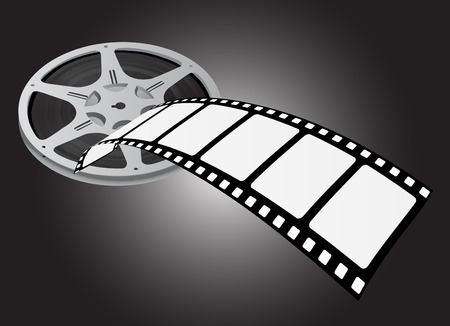 movie screen: movie reel vector