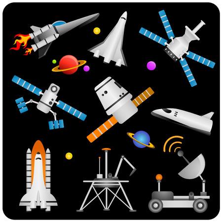 estrella caricatura: elementos de espacio
