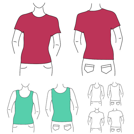 blank t shirt: blank t shirt set   Illustration