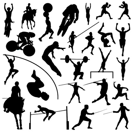 weight lifter: sports competition sport silhouettes