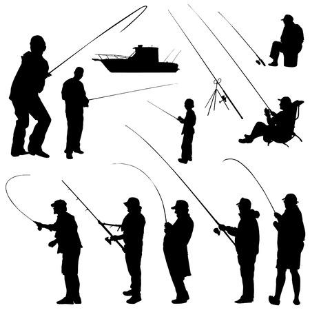 resting rod fishing: fisher set