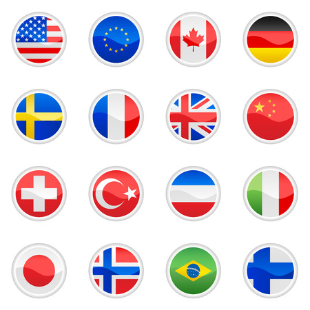 flag set vector  Vector