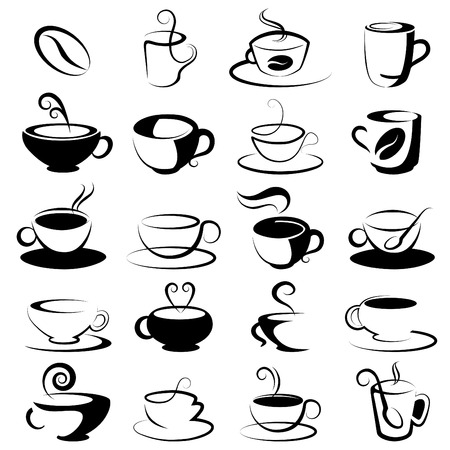 cafe latte: coffee and tea design elements