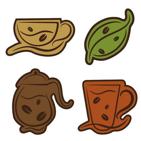 coffee and tea symbols  Vector