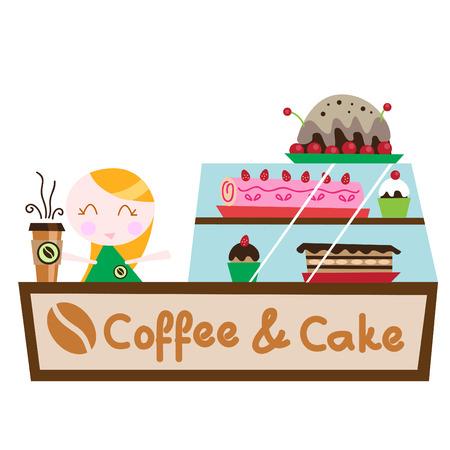 cafe y pastel: cafeter�a pastel