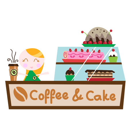 coffee cake shop  Stock Vector - 8967133