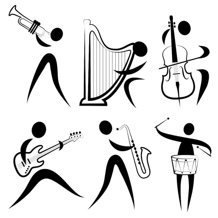 musician symbol set Stock Vector - 8967135