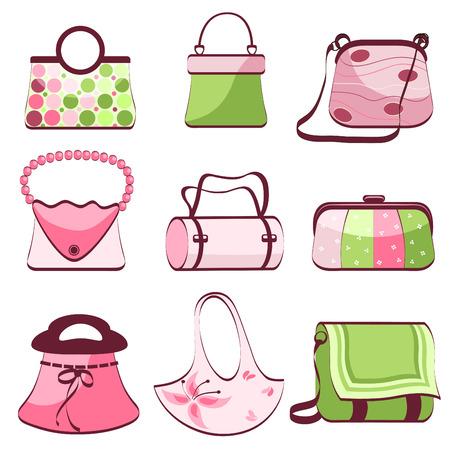 designer bag: definir el vector de bolsas de la mujer
