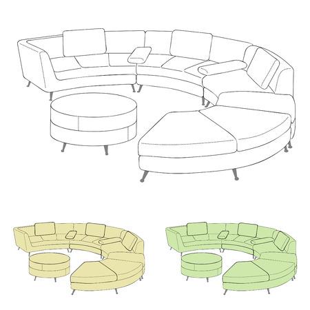 interior decorating: divano  Vettoriali