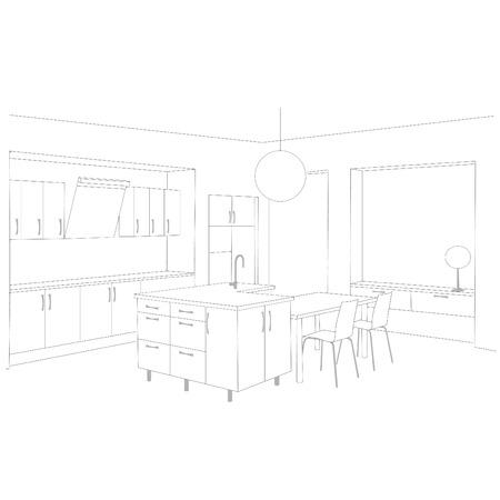 kitchen  Stock Vector - 8967130