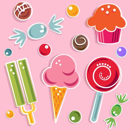 golosinas: caramelos y dulces  Vectores